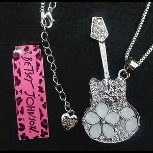 BETSEY JOHNSON~ Large Guitar Necklace